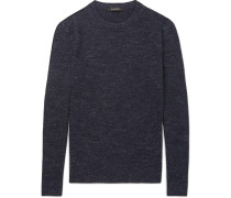 Mélange Wool, Cashmere, Silk And Linen-blend Sweater