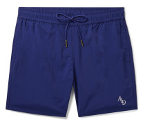 Slim-Fit Logo-Embroidered Nylon Drawstring Shorts