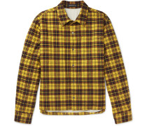 Checked Cotton-flannel Shirt - Yellow