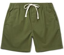 Stretch-cotton Twill Drawstring Shorts
