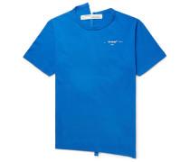 Slim-fit Logo-print Deconstructed Cotton-jersey T-shirt