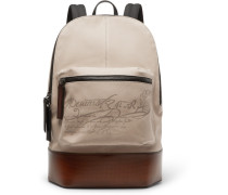 Volume Large Canvas And Leather Backpack