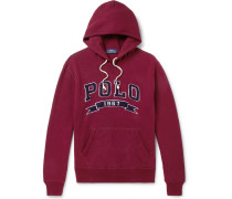Logo-appliquéd Fleece-back Cotton-jersey Hoodie - Burgundy