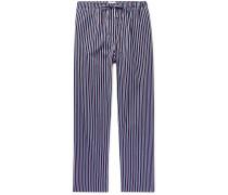Royal Striped Cotton-Satin Pyjama Trousers