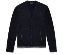 Slim-fit Shell-trimmed Wool Cardigan