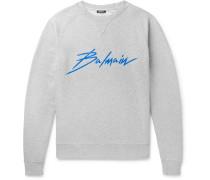 Logo-print Loopback Cotton-jersey Sweatshirt - Gray