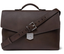 Leather Briefcase - Dark brown