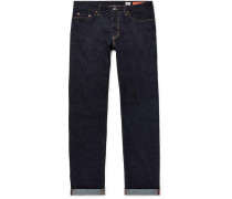 Bowie Slim-fit Selvedge Denim Jeans - Dark denim