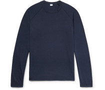 Slim-fit Cotton-blend T-shirt - Navy
