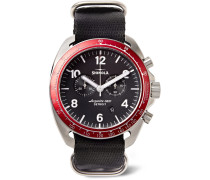 The Rambler Tachymeter Chronograph 44mm Stainless Steel And Webbing Watch - Black