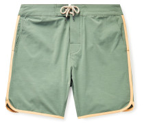 Sunset Mid-Length Contrast-Trimmed Swim Shorts