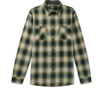Checked Cotton-blend Shirt