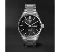 Carrera Automatic 41mm Steel Watch - Black