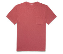 Garment-dyed Slub Cotton-jersey T-shirt - Brick