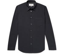 Slim-fit Garment-dyed Cotton Shirt - Storm blue