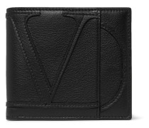 Logo-Appliquéd Full-Grain Leather Billfold Wallet