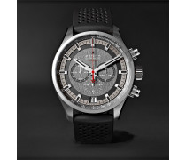 El Primero Sport 45mm Stainless Steel and Rubber Watch, Ref. No. 03.2280.400/91.R576