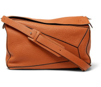 Puzzle Full-grain Leather Messenger Bag
