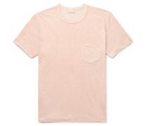 Slub Organic Pima Cotton-jersey T-shirt - Pink
