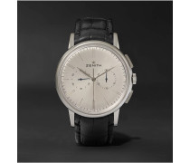 Elite Chronograph Classic 42mm Stainless Steel and Alligator Watch