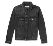 Logo-print Denim Jacket - Black
