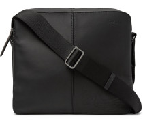 Monolithe Mm Scritto Matte-leather Messenger Bag - Black