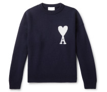 Logo-Intarsia Merino Wool Sweater