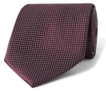 8cm Textured-silk Tie - Burgundy