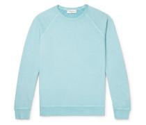Schrank Loopback Cotton-jersey Sweatshirt - Sky blue