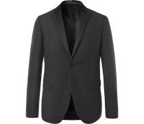 Black Slim-fit Embellished Mohair And Virgin Wool-blend Tuxedo Jacket
