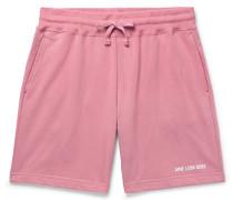 Logo-print Loopback Cotton-jersey Drawstring Shorts