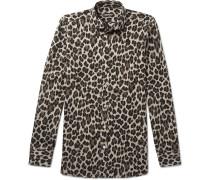 Leopard-printed Woven Shirt