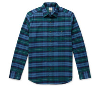 Checked Organic Stretch-Cotton Shirt
