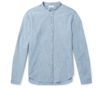Grandad-collar Cotton-chambray Shirt