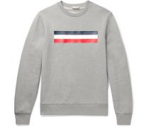 Mélange Fleece-back Cotton-jersey Sweatshirt