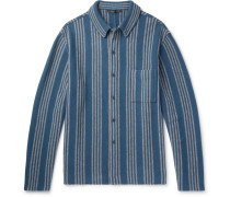 Oversized Striped Wool And Cashmere-blend Shirt