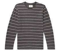 Striped Textured Cotton-Blend T-Shirt