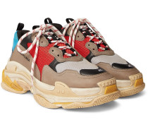 Triple S Mesh, Nubuck And Leather Sneakers - Multi