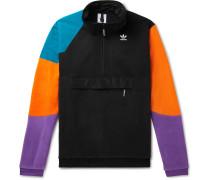 PT3 Colour-Block Shell and Jersey-Panelled Fleece Half-Zip Sweatshirt