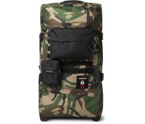 + BAPE Tranverz M Camouflage-Print Canvas Suitcase