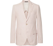 Grant Light-Pink Slim-Fit Linen Blazer