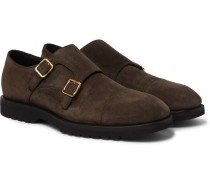 Kensington Suede Monk-Strap Shoes