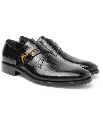 Balenciaga Herren Croc-effect Leather Shoes Verkauf 2018 Kostengünstige Online-Verkauf cidhITCG