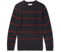 Striped Brushed-Wool Sweater