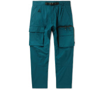 ACG NRG Tapered Belted Cotton-Blend Twill Cargo Trousers