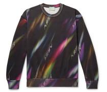 Printed Fleece-Back Cotton-Jersey Sweatshirt