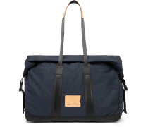 Baroud Leather-Trimmed Ripstop Holdall