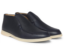 Open Walk Full-grain Leather Boots - Navy