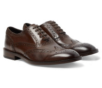 Munro Leather Wingtip Brogues - Dark brown