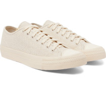 Skagway Lo Dogi Woven Canvas And Leather Sneakers